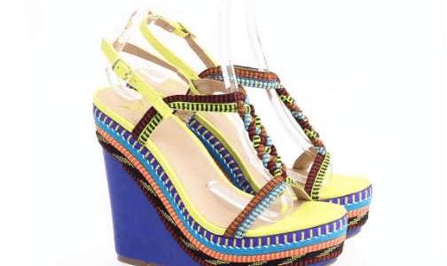 I sandali multicolor per l'estate 2016