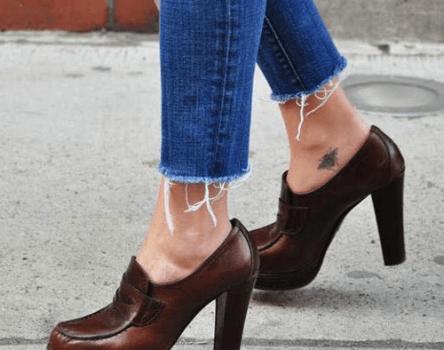 Scarpe donna: i mocassini con tacco